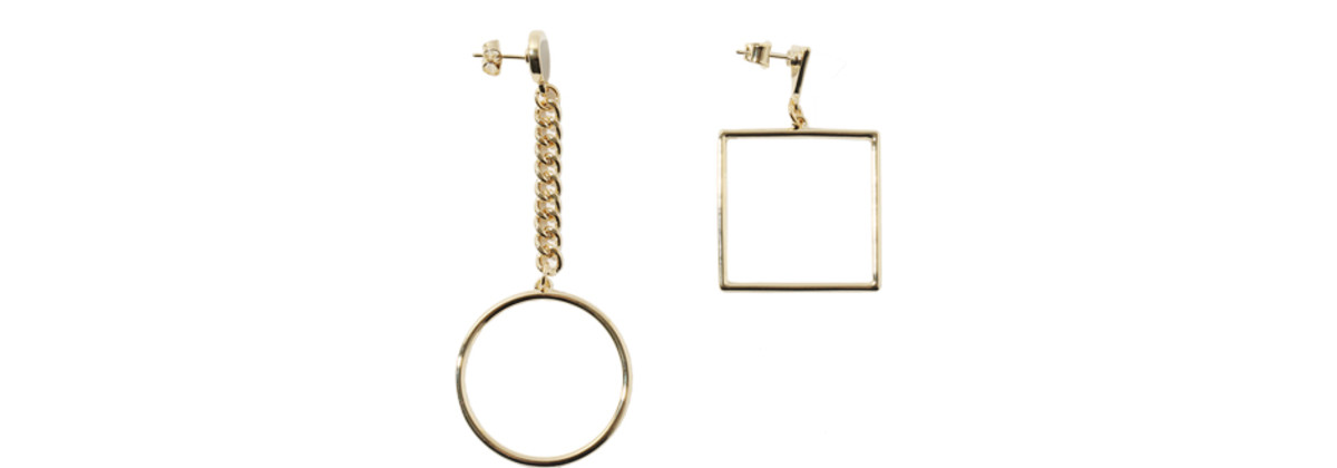 Stylenanda Dangling Shape Accent Earrings, $11, available at Stylenanda.