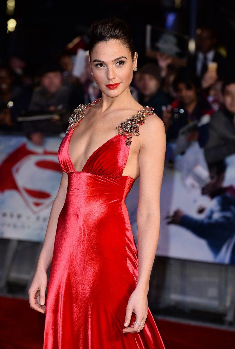 "Gal Gadot at the European premiere of ""Batman v Superman: Dawn Of Justice"" in London. Photo: Jeff Spicer/Getty Images"