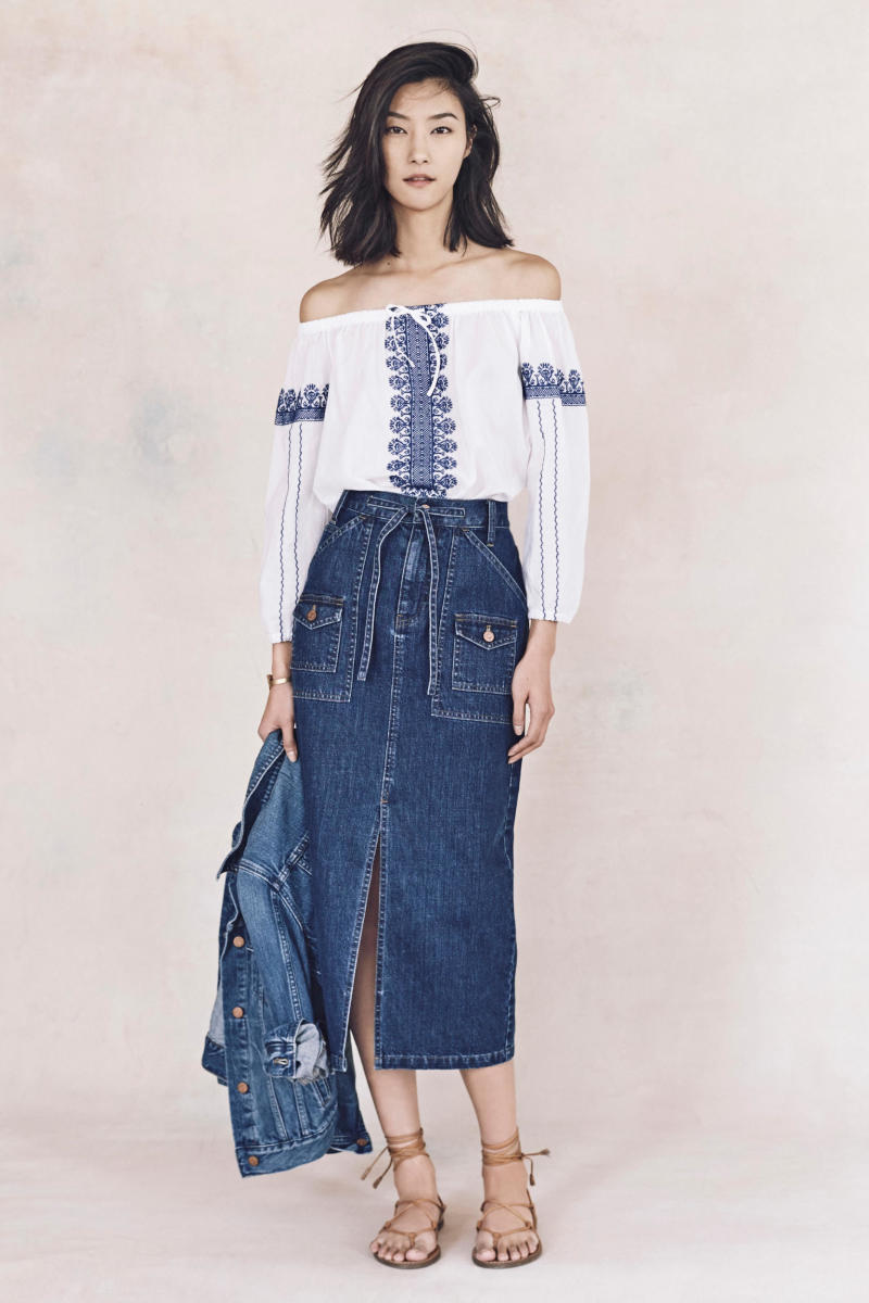 A look from Madewell's spring 2016 collection, partially influenced by Lee. Photo: Madewell