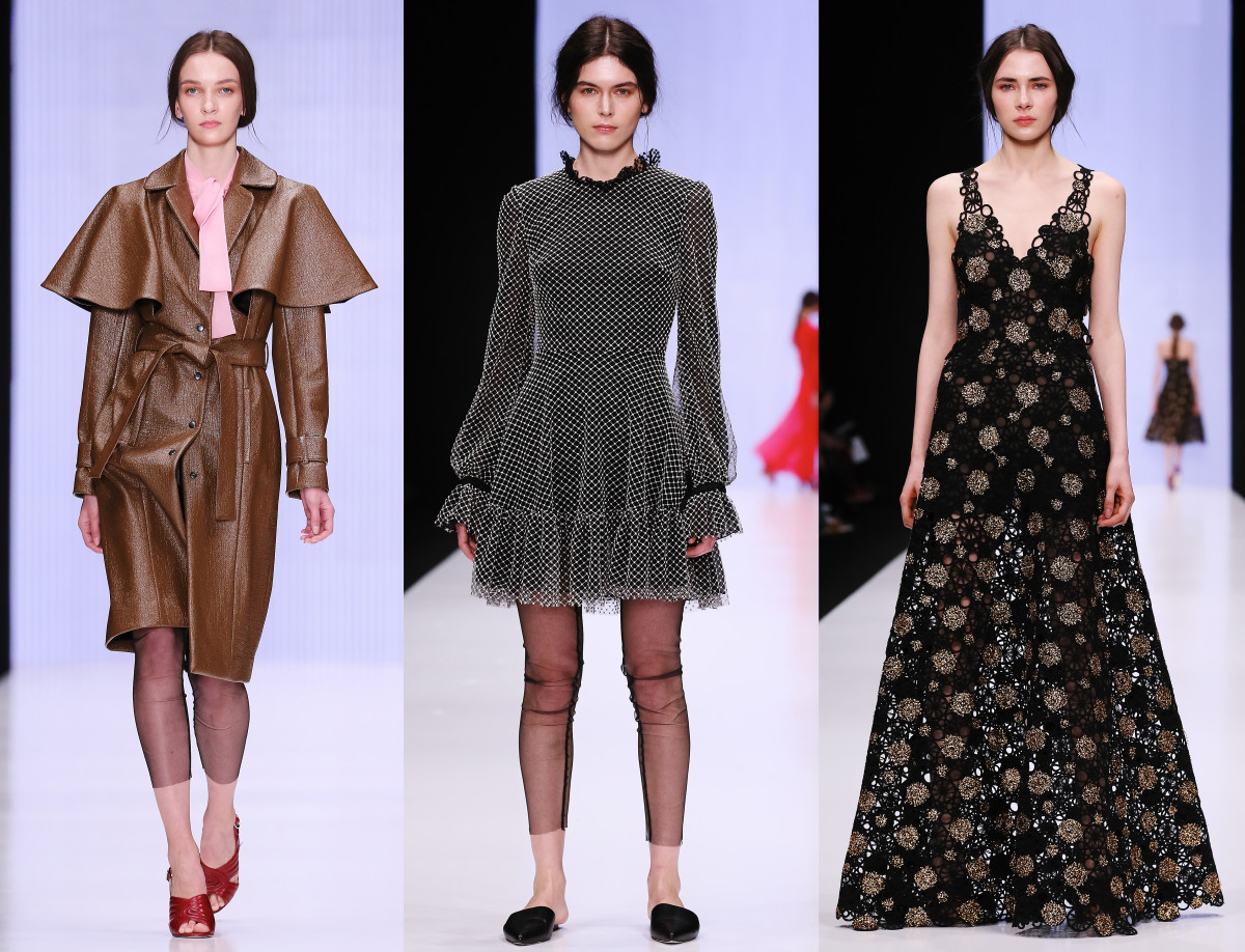 Looks from Yasya Minochkina's fall 2016 collection. Photo: Mercedes Benz Fashion Week Russia
