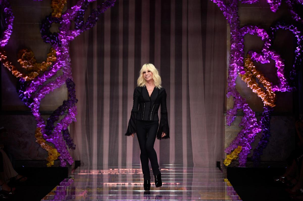 Donatella Versace. Photo: Pascal Le Segretain/Getty Images