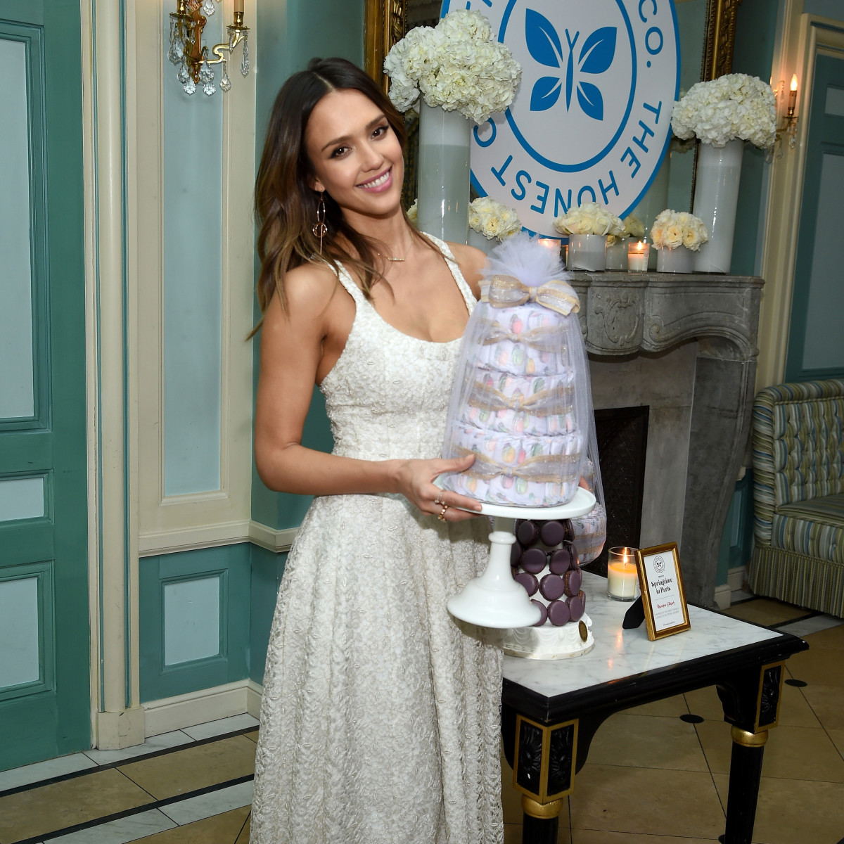 Jessica Alba at a launch event for The Honest Company's Springtime in Paris Diaper Collection on March 9. Photo: Dimitrios Kambouris/Getty Images for The Honest Company