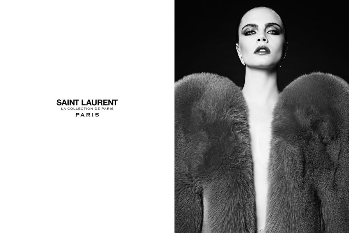Cara Delevingne for Saint Laurent. Photo: Saint Laurent