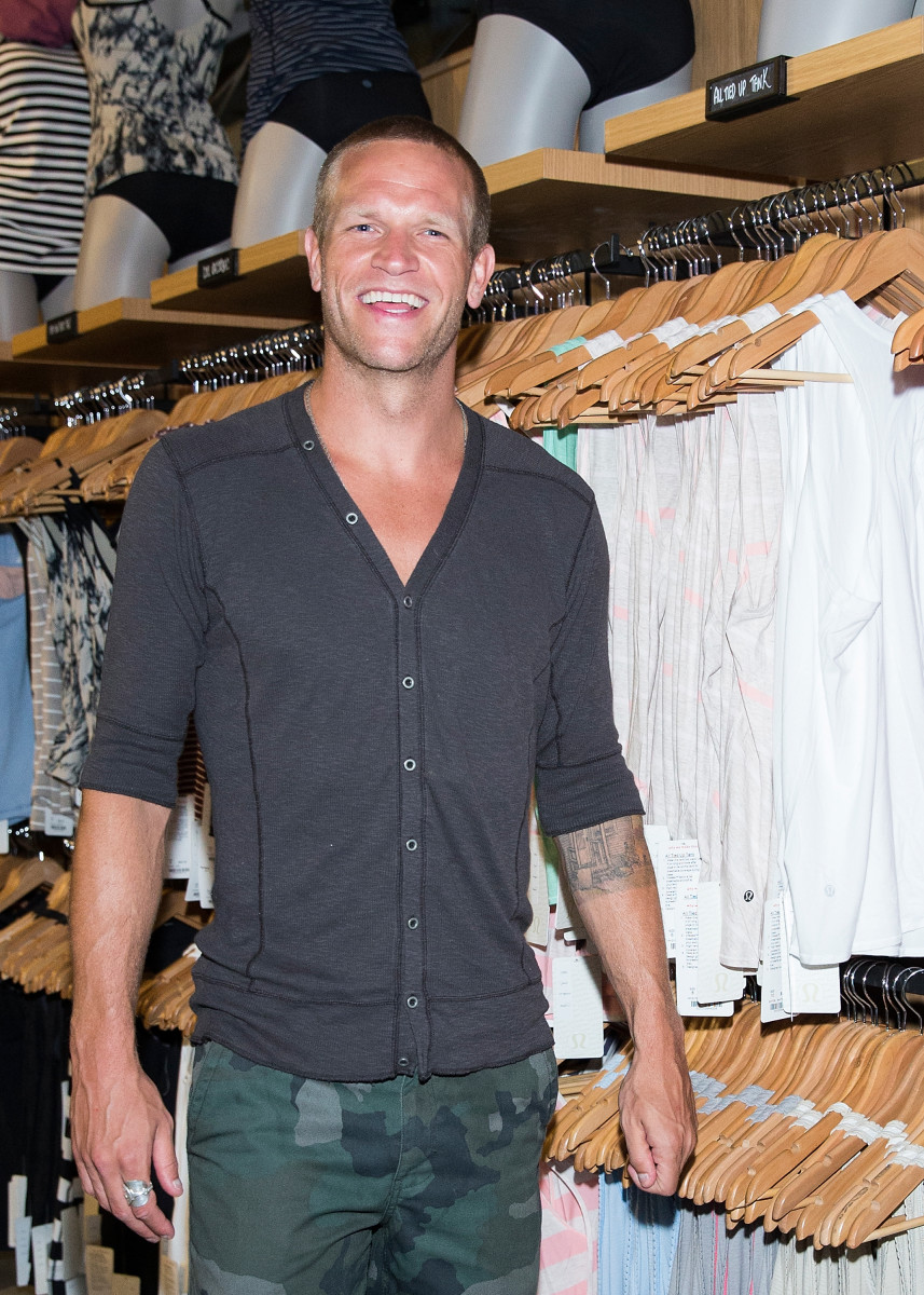 Soccer player Jay DeMerit at a Lululemon event in Vancouver. Photo: Andrew Chin/Getty Images