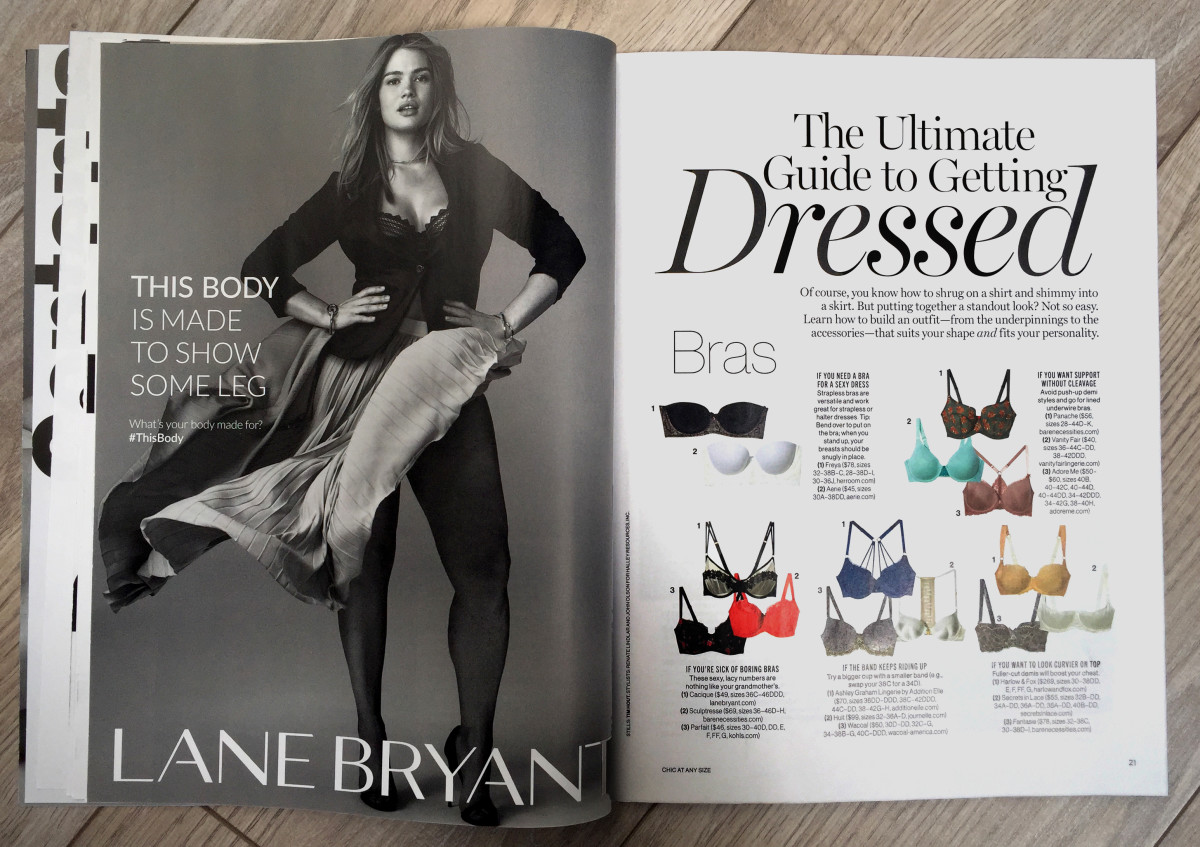 "Inside the Glamour ""Chic At Any Size"" issue. Photo: Glamour"