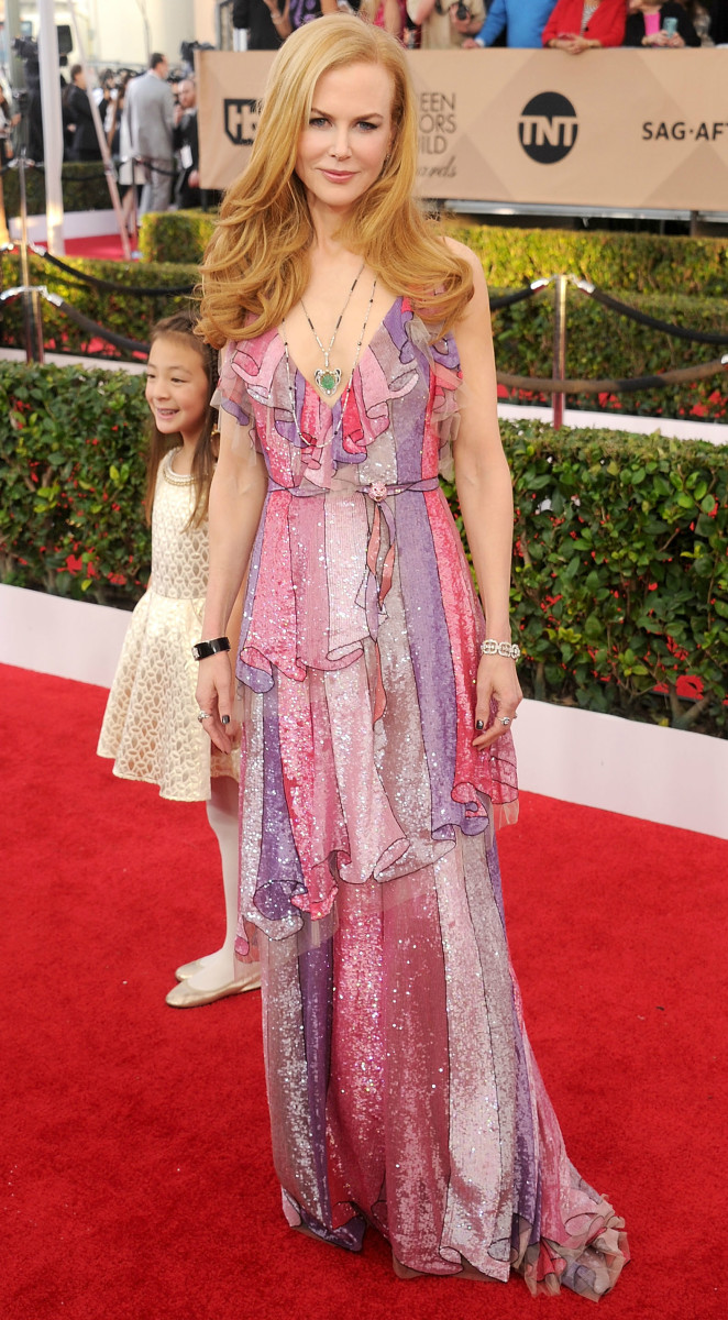 Nicole Kidman in Gucci at the 2016 Screen Actors Guild Awards. Photo: Gregg DeGuire/WireImage