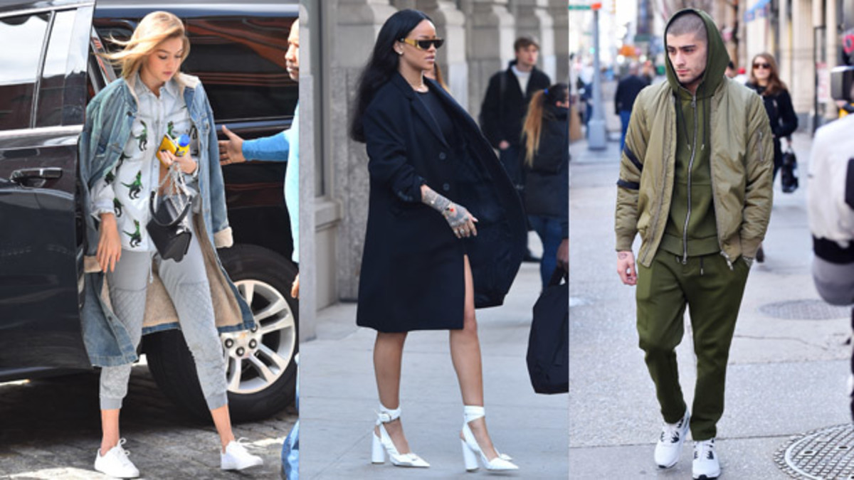 From left to right: Gigi Hadid, Rihanna and Zayn Malik. Photos: Josiah Kamau