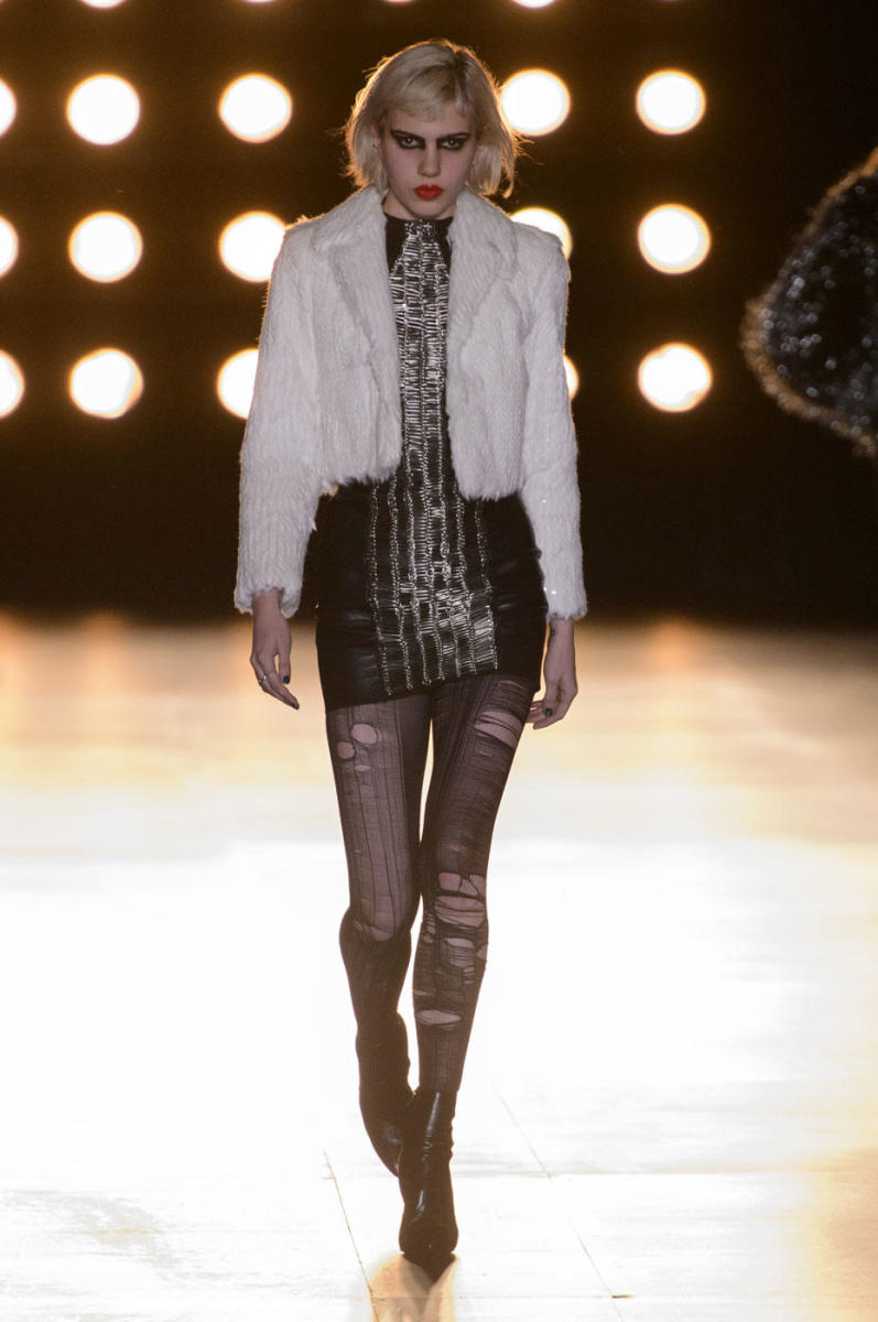 A look from Saint Laurent's fall 2015 collection. Photo: Imaxtree