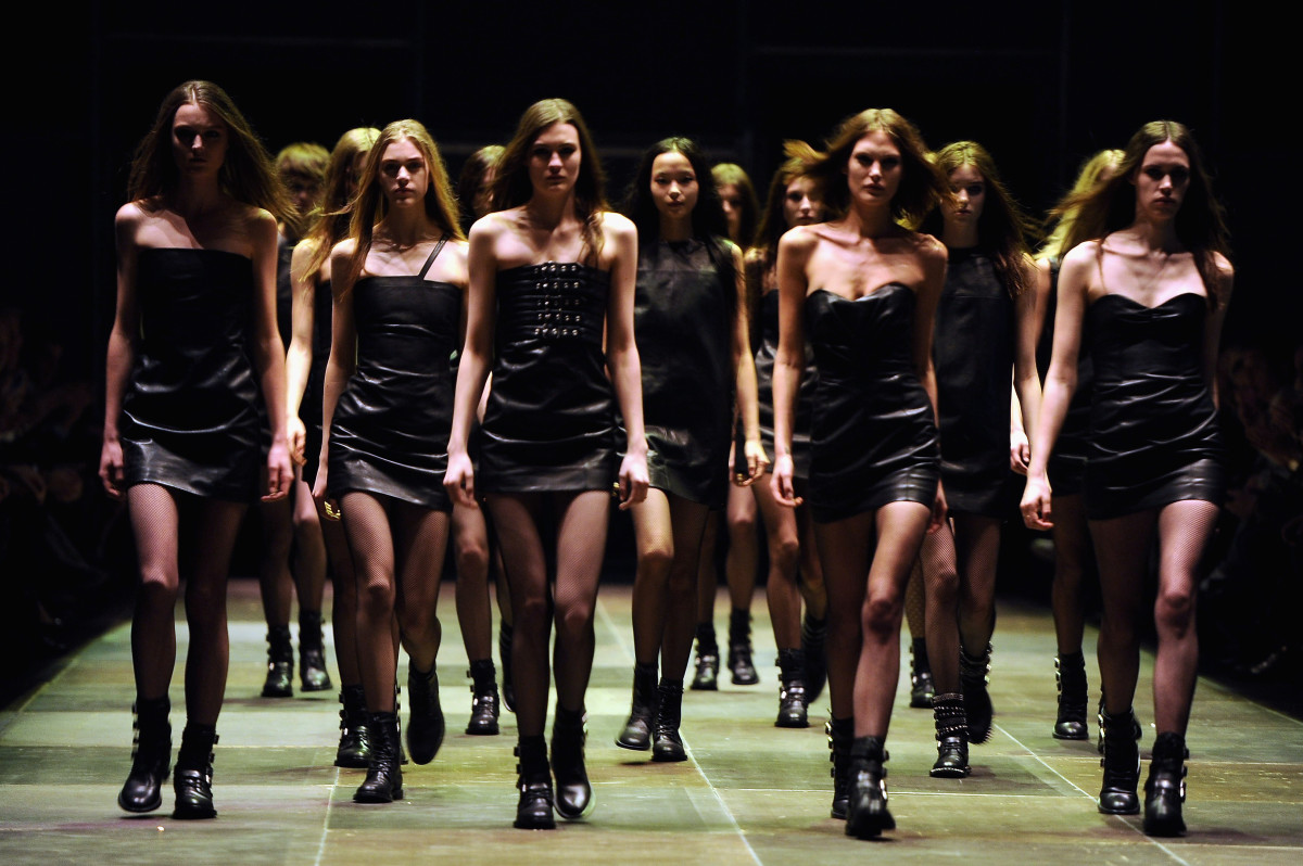 The finale at Saint Laurent's fall 2013 show. Photo: Pascal Le Segretain/Getty Images