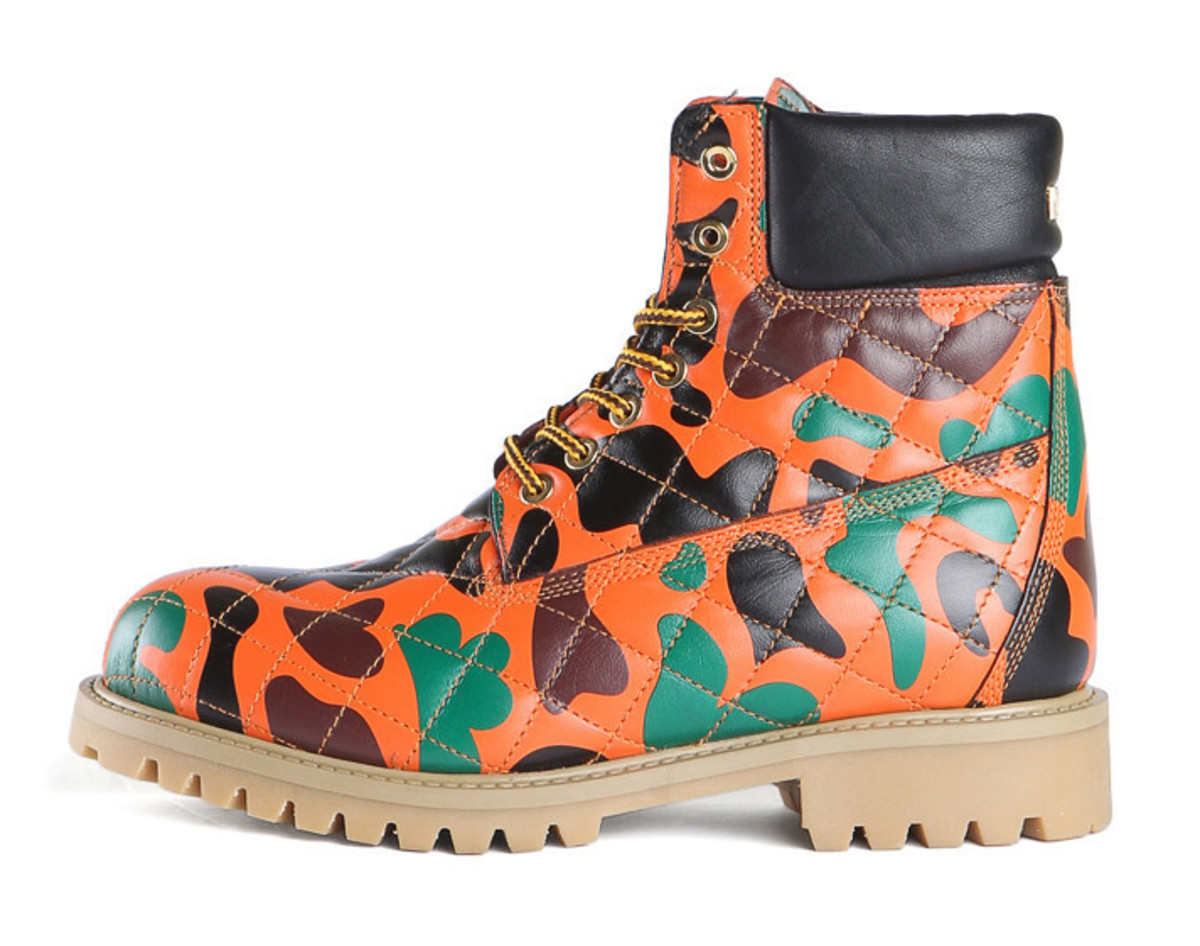 Moschino Camo print boots, $290 (from $725), available at Shop Super Street.