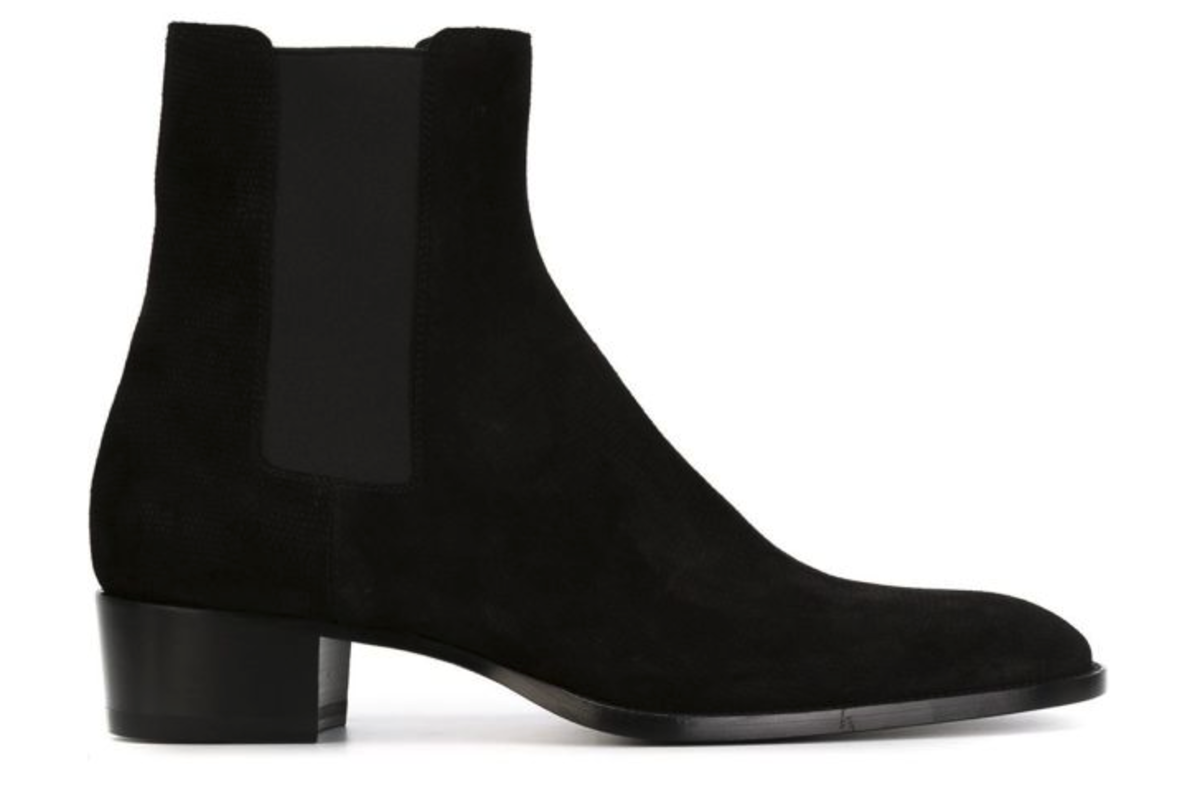 "Saint Laurent ""Hedi"" Chelsea Boots, $995, available at Farfetch."