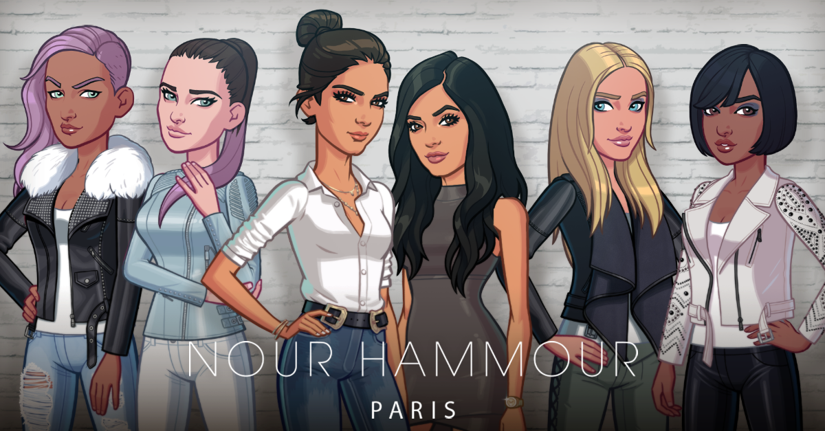 Nour Hammour in the Kendall & Kylie game. Photo: Courtesy