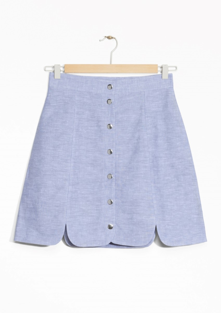 & Other Stories Linen-Chambray Skirt, $55, available at & Other Stories.