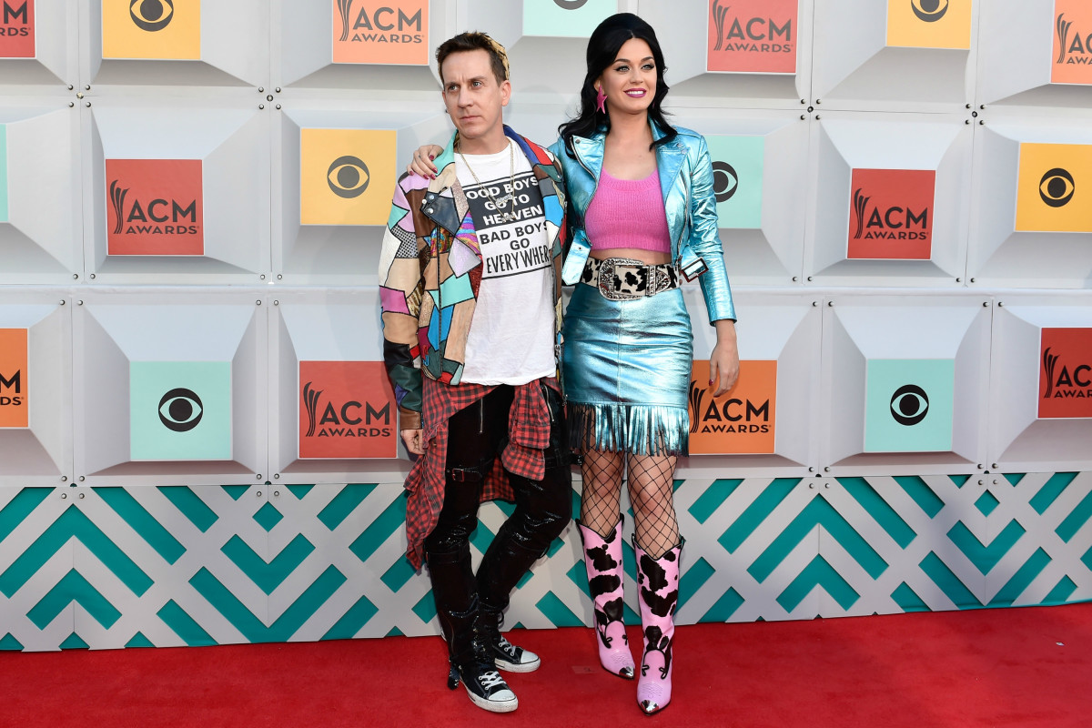 Jeremy Scott and Katy Perry on the red carpet. Photo: David Becker/Getty Images
