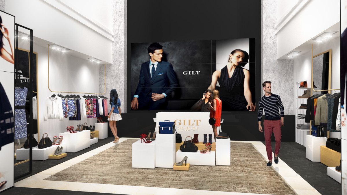 A rendering of the new Gilt shop in Off 5th in Manhattan. Photo: Saks 5th Avenue