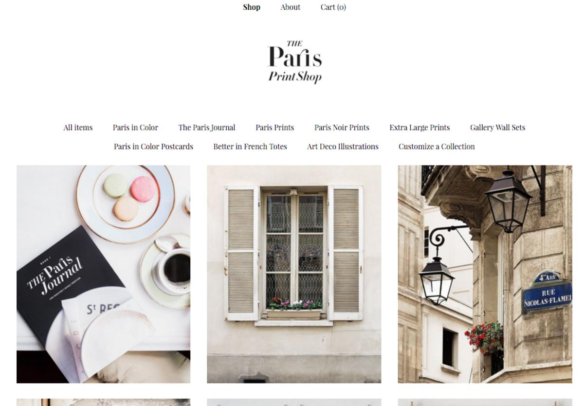 The Paris Print Shop recently set up its own site at theparisprintshop.com using Etsy's Pattern service.