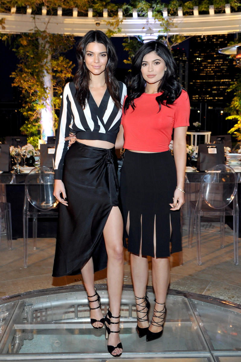 Kendall and Kylie Jenner styled by Monica Rose. Photo: Donato Sardella/Getty Images