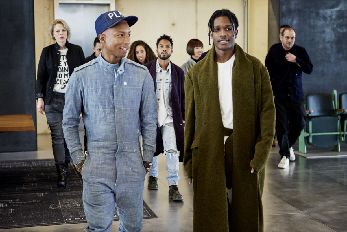 Pharrell and A$AP Rocky. Photo: G-Star Raw
