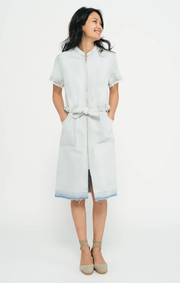 Sea New York braided denim shirt dress, $425, available at Sea New York.