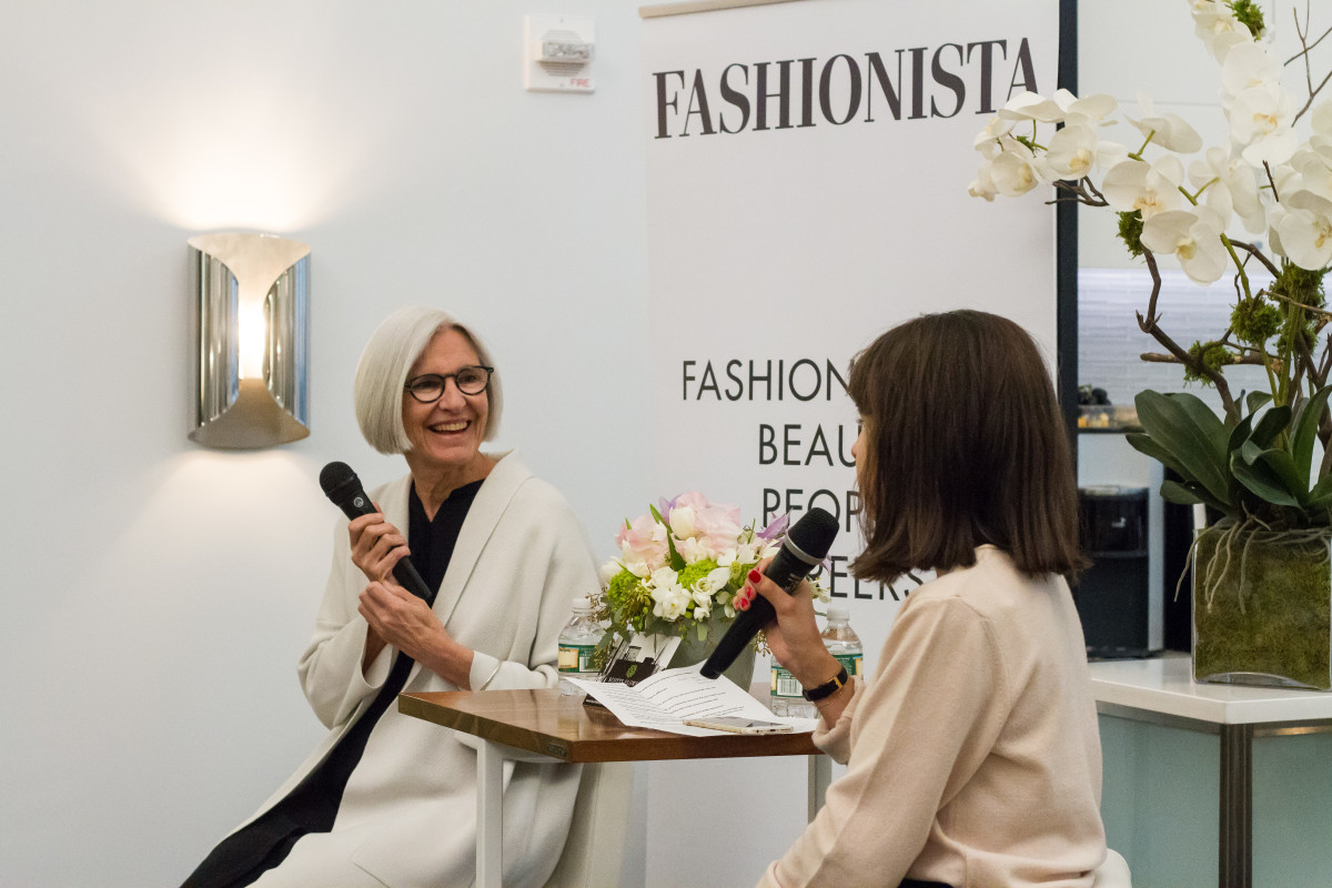 Eileen Fisher and Dhani Mau at our latest New York City meetup on Wednesday. Photo: Meghan Uno/Fashionista