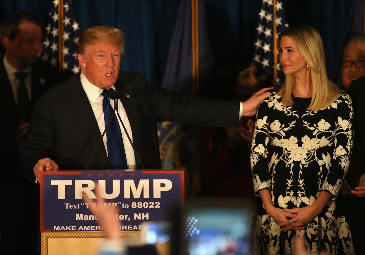 Donald Trump and Ivanka Trump. Photo: Joe Raedle