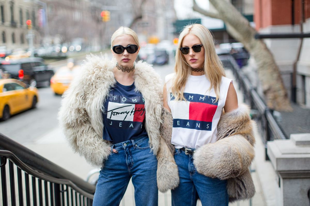 The Tommy Jeans capsule collection on the street at New York Fashion Week. Photo: Bryant Eslava/Tommy Hilfiger