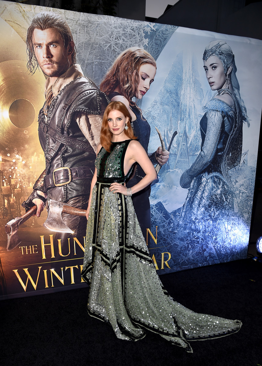 "Jessica Chastain at the premiere of ""The Huntsman: Winter's War."" Photo: Kevin Winter/Getty Images"