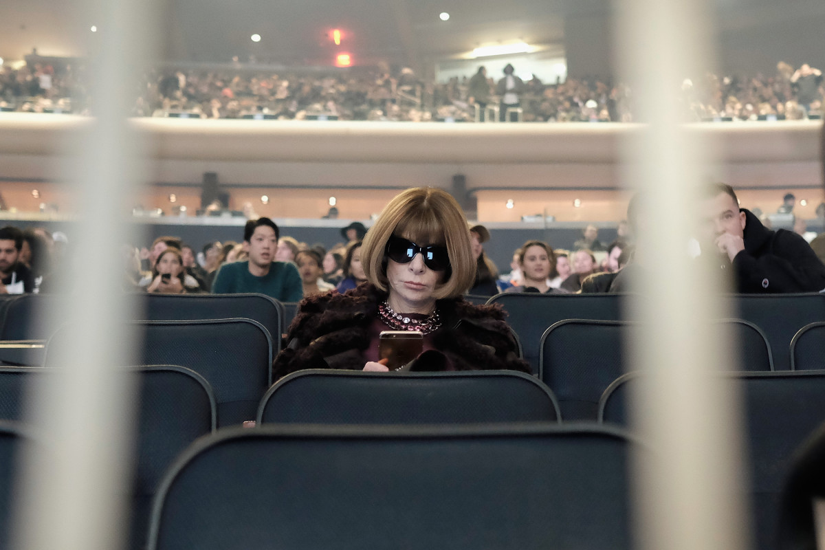 Anna Wintour at Yeezy Season 3. Photo: Dimitrios Kambouris/Getty Images