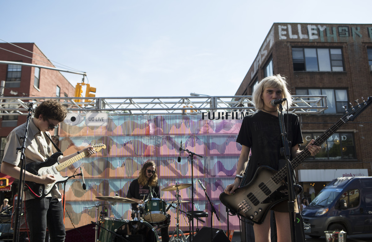 Sunflower Bean at the 2015 Northside Festival. Photo: Adela Loconte/Getty Images