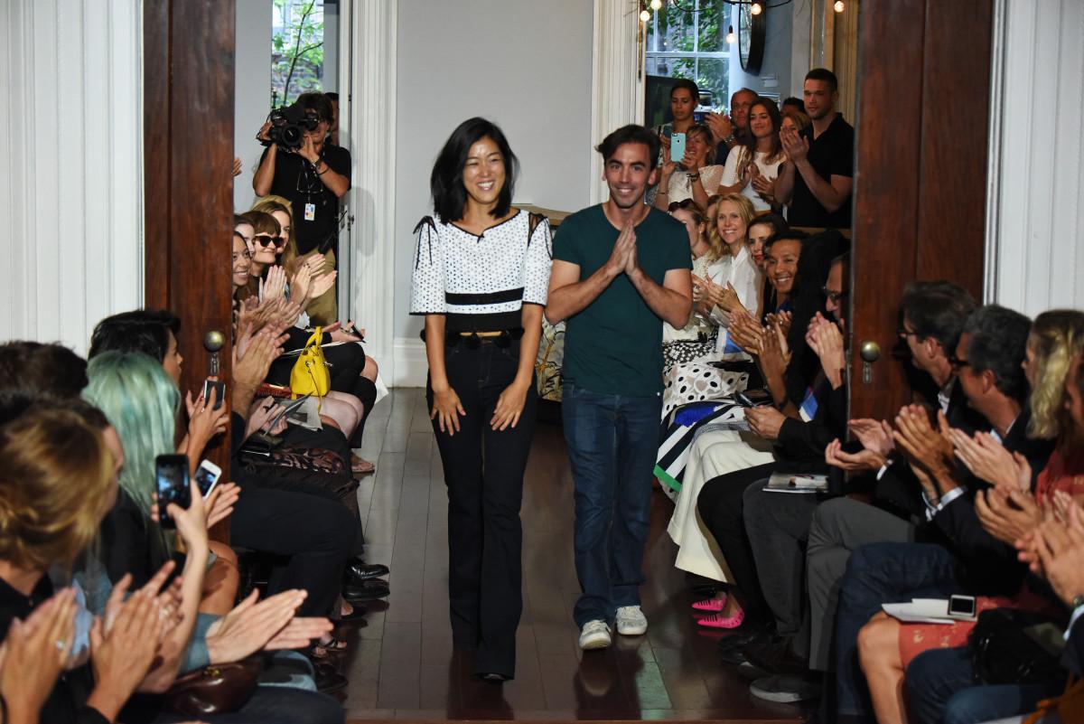 Laura Kim and Fernando Garcia of Monse at New York Fashion Week. Photo: Albert Urso/Getty Images