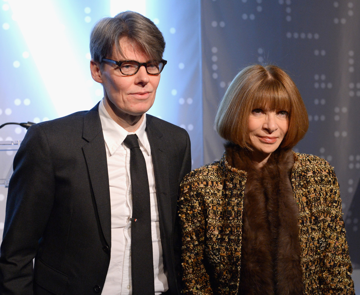 Andrew Bolton and Anna Wintour in 2016. Photo: Andrew Toth