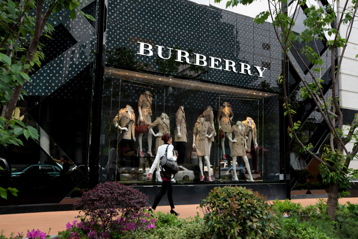 Burberry in Shanghai. Photo: Kevin Lee/Getty Images