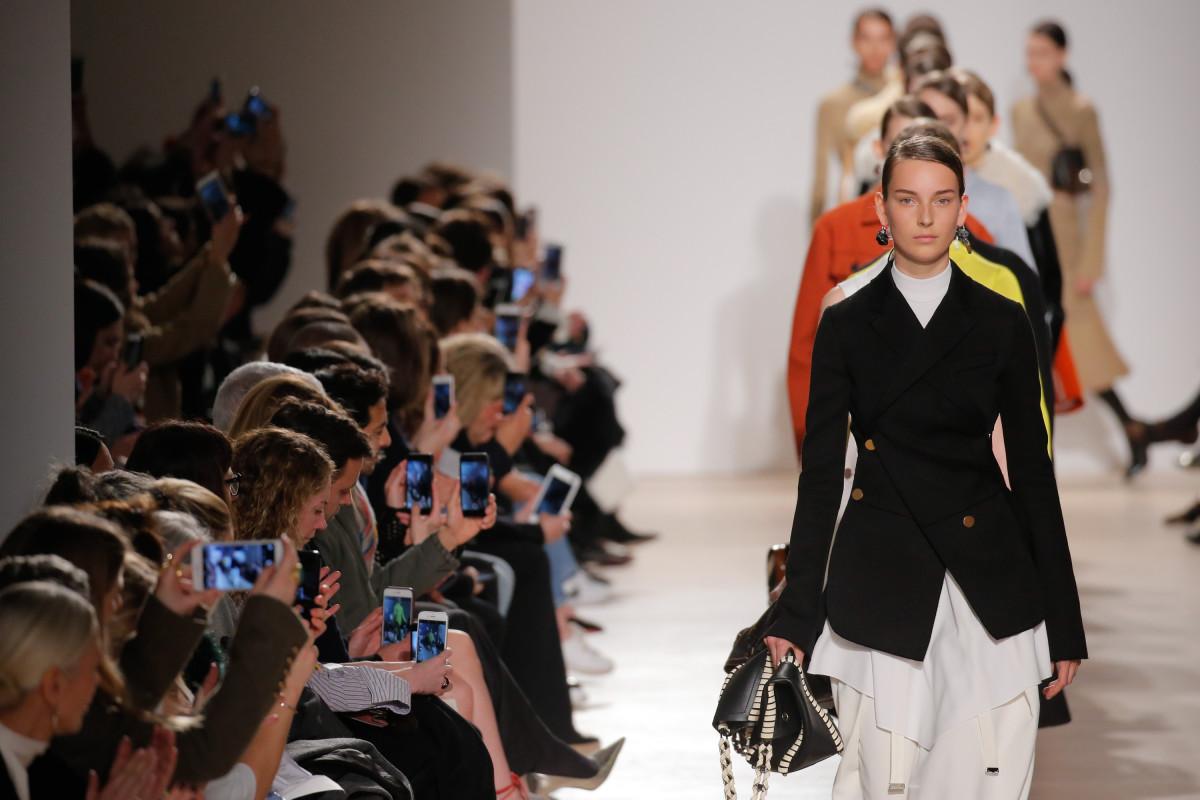 Proenza Schouler's fall 2016 runway show during New York Fashion Week. Photo: JP Yim/Getty Images