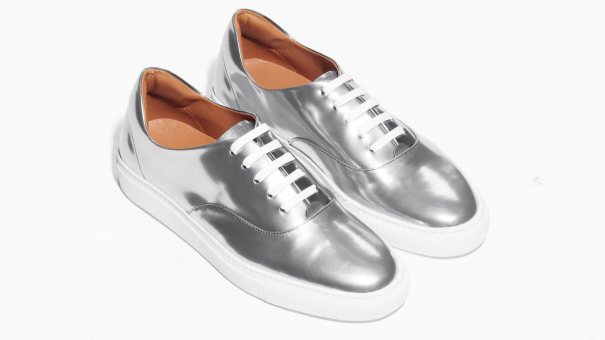 & Other Stories Silver Sneakers, $175, available at & Other Stories.