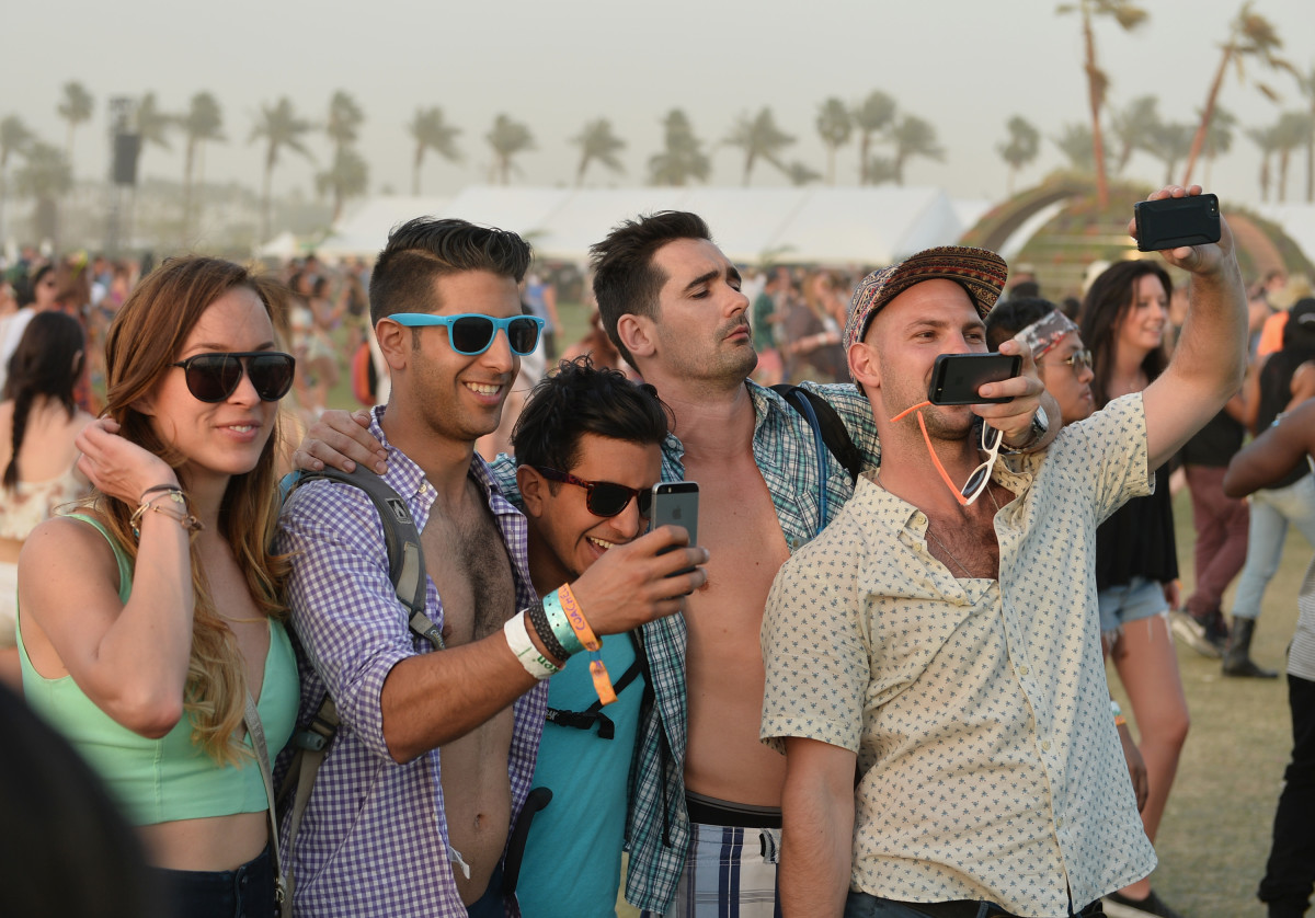 Coachella-goers, monetizing their influence, probably. Photo: Matt Cowan/Getty Images Entertainment