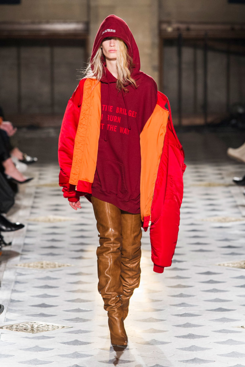 Vetements fall 2016. Photo: Imaxtree