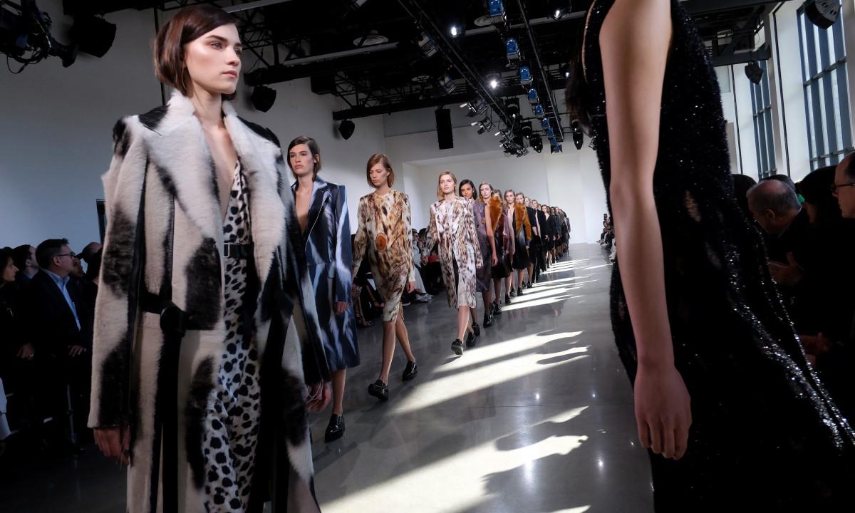 Calvin Klein runway. Photo: Jewel Samad/Getty Images