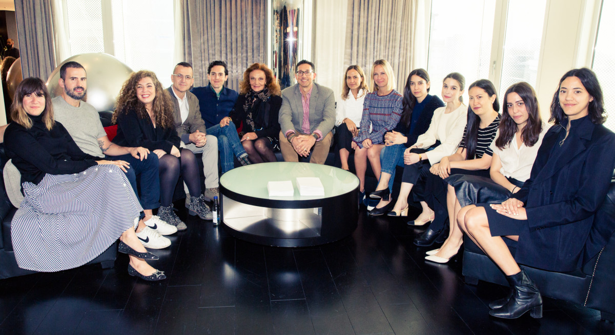 The CFDA Incubator designers with Steven Kolb, Diane von Furstenberg and W Hotels' Anthony Ingham. Photo: W Hotels