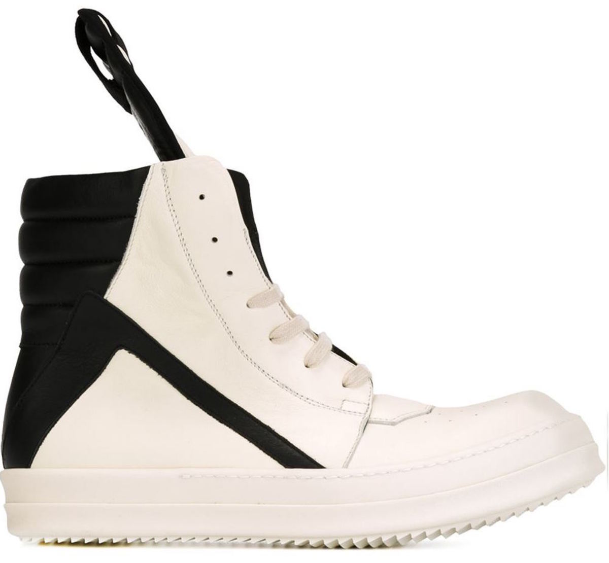 "Rick Owens ""Geobasket"" sneakers, $1144, available at Farfetch."