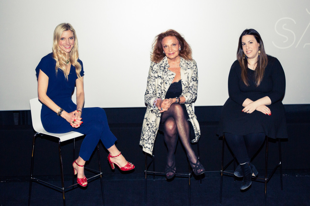 Calgary Avansino, Diane von Furstenberg and Mary Katrantzou at the W Hotel Leicester Square in London. Photo: W Hotels