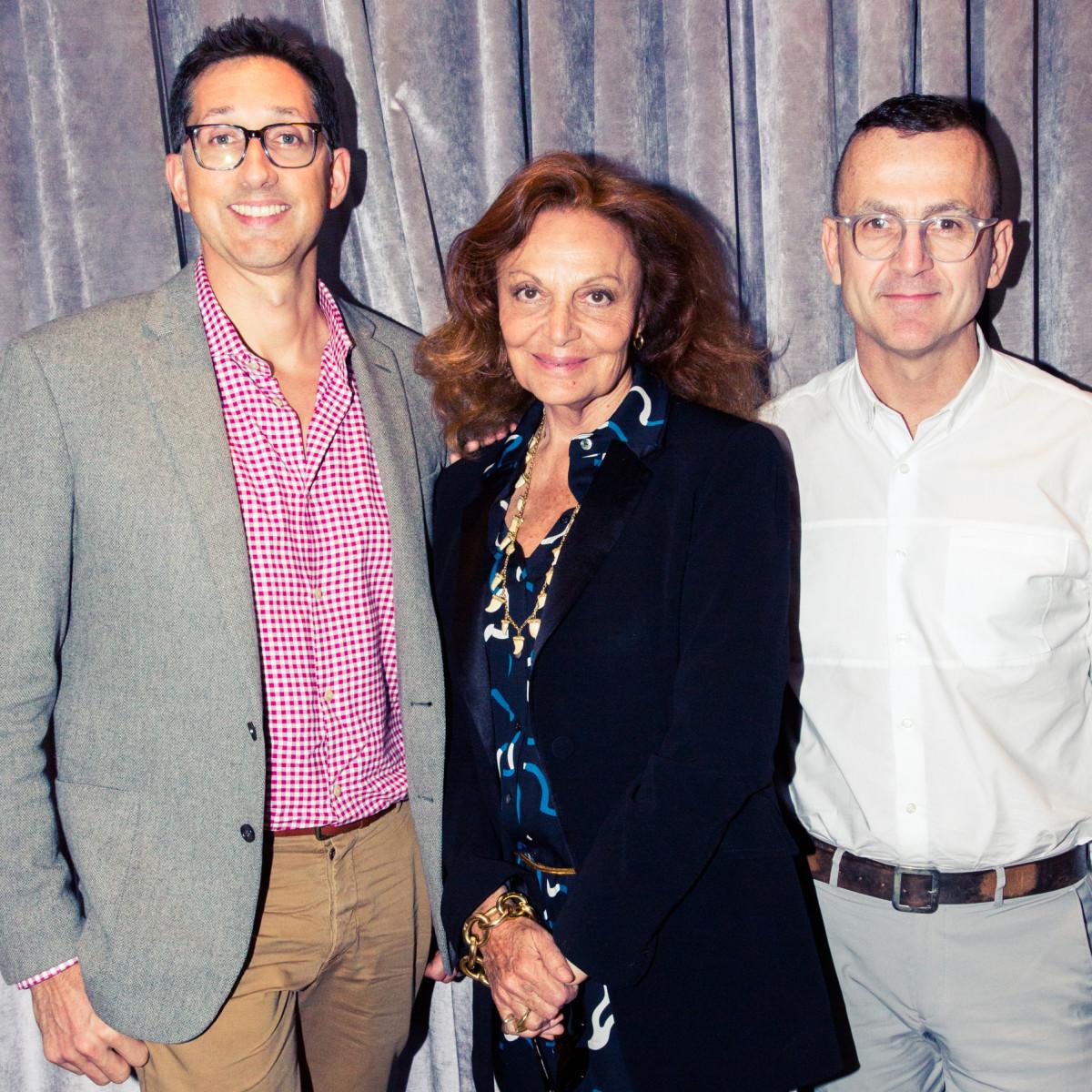 Anthony Ingham, W Hotels Global Brand Leader, with Diane von Furstenberg and Steven Kolb. Photo: W Hotels