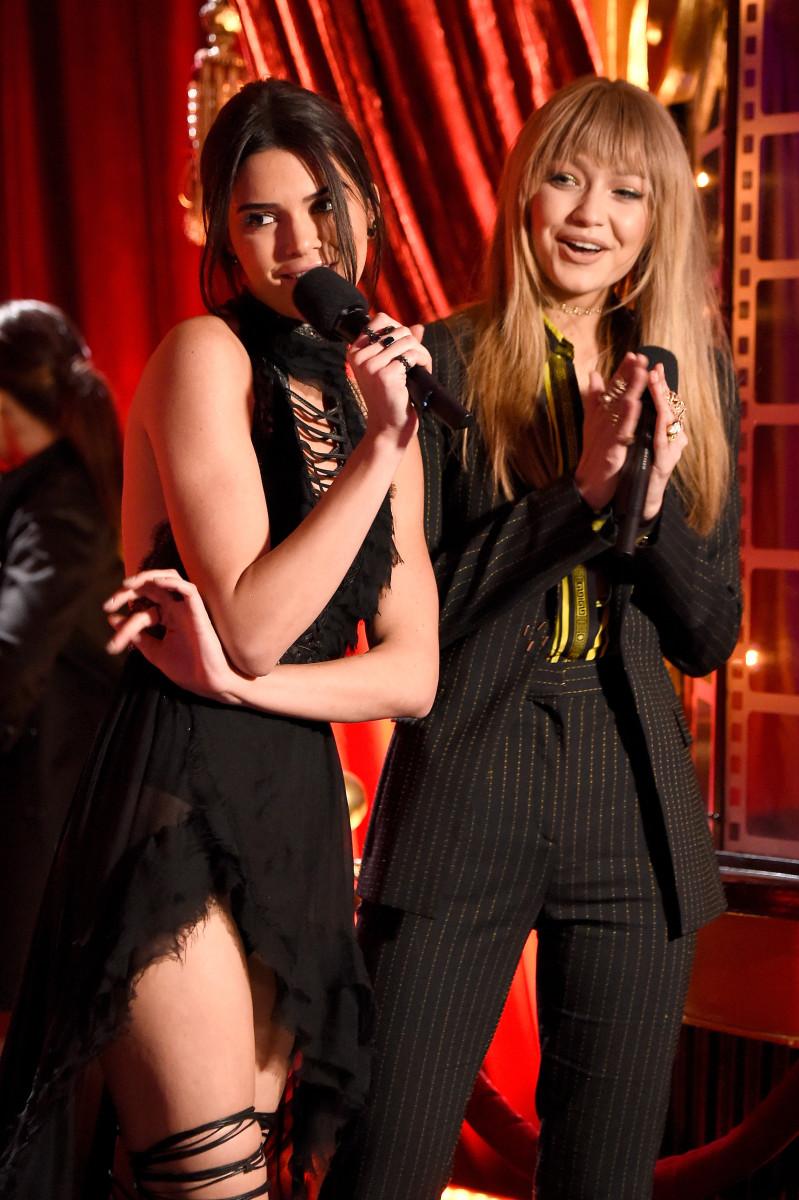 Kendall Jenner, Gigi Hadid. Photo: Frazer Harrison/Getty Images