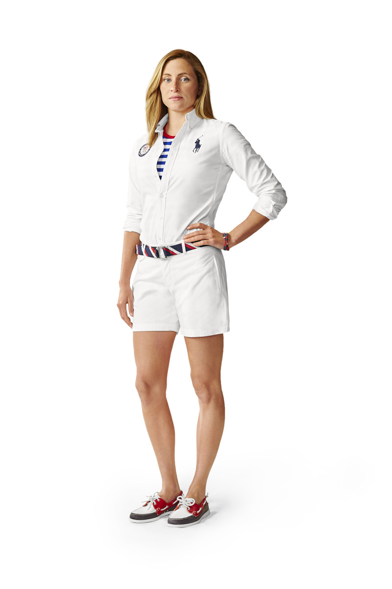Swimmer Haley Anderson in Team USA's Polo Ralph Lauren Closing Ceremony uniforms. Photo: Courtesy of Ralph Lauren