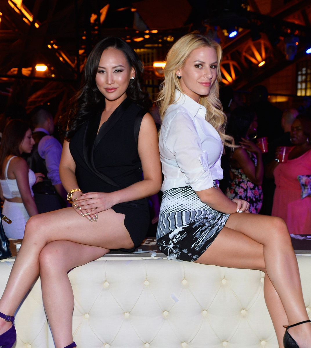 Dorothy Wang and Morgan Stewart. Photo: Bryan Steffy/Getty Images
