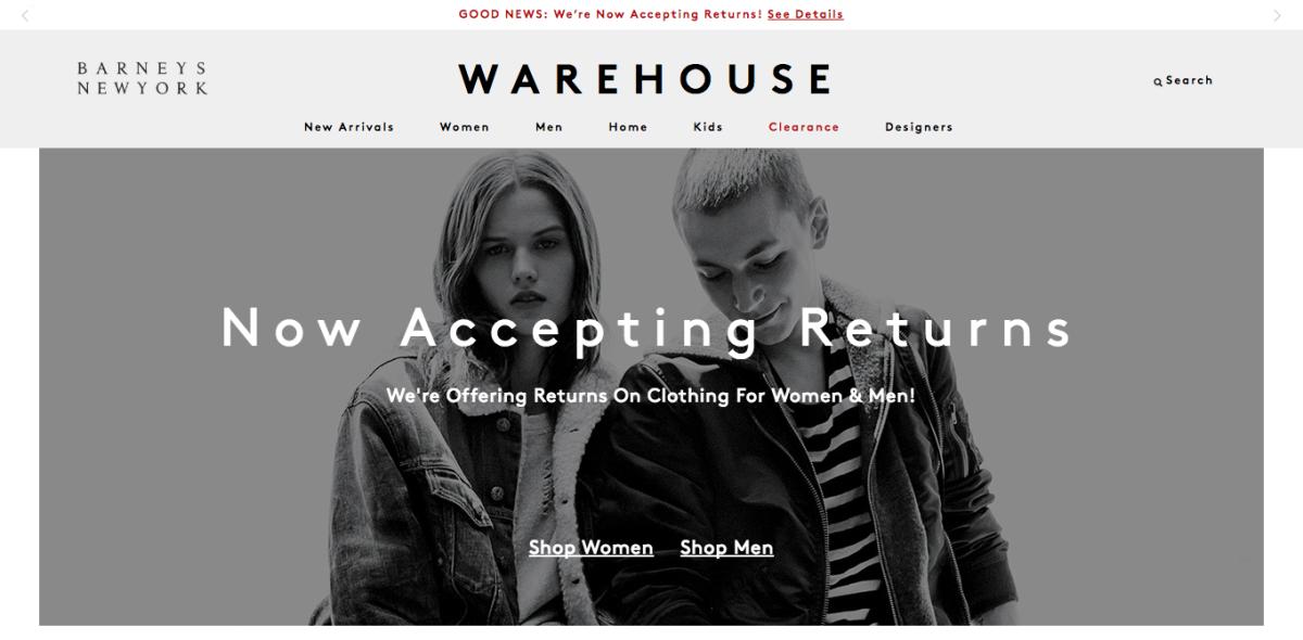 Screengrab: Barneyswarehouse.com