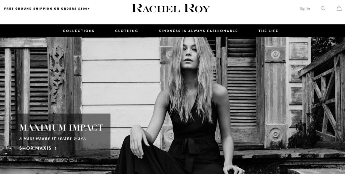Rachel Roy's website. Photo: Screengrab