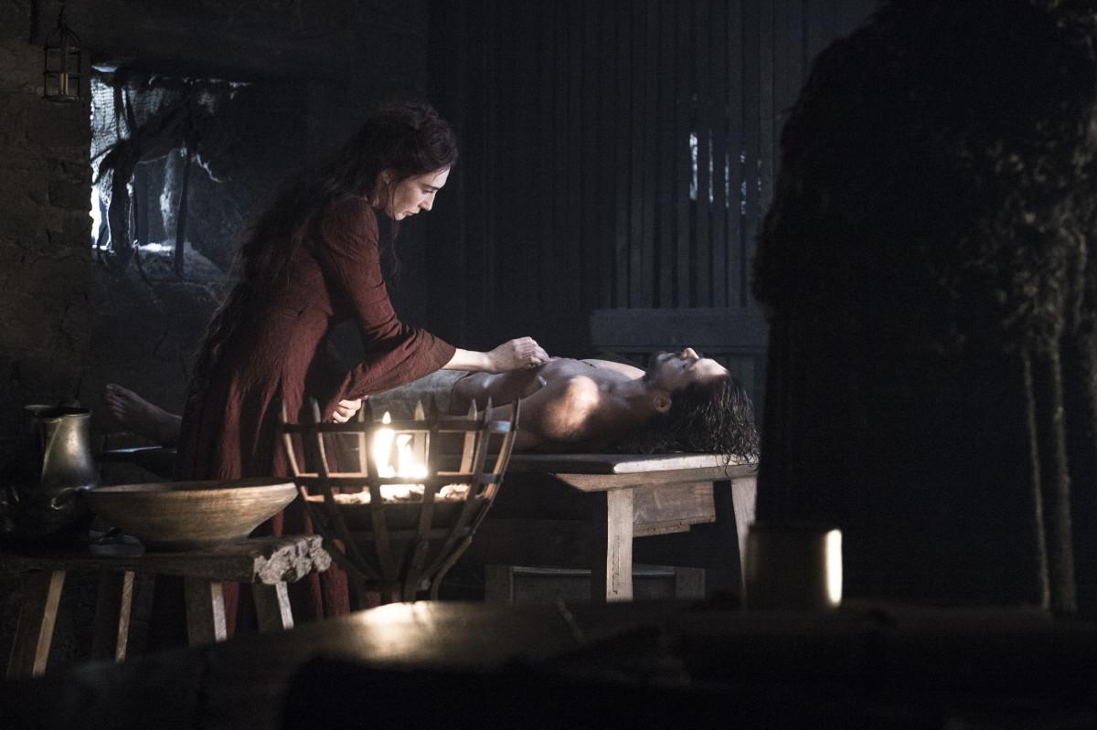 Melisandre doing the damn thing. Photo: Helen Sloan for HBO