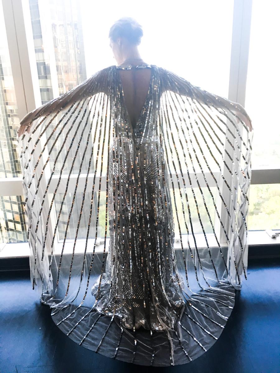 Mackenzie Davis pre-Met Gala. Photo: Altuzarra