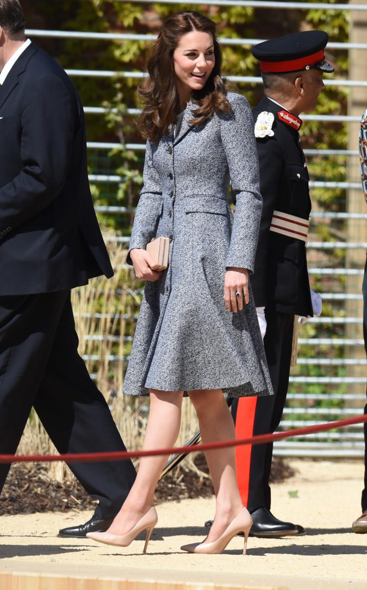 Kate Middleton at the Magic Garden at Hampton Court Palace. Photo: Stuart C. Wilson/Stringer