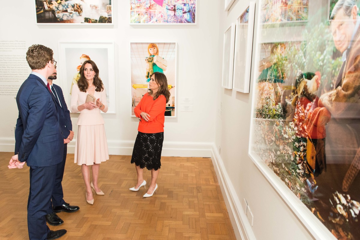 """Kate Middleton with British """"Vogue"""" Editor-in-Chief Alexandra Shulman at the National Portrait Gallery. Photo: Ian Gavan/WPA Pool/Getty Images"""